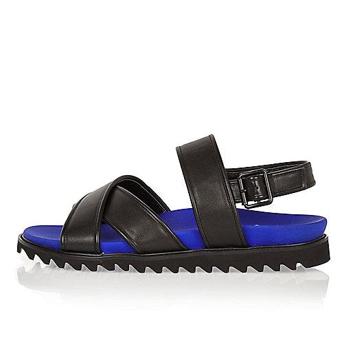 Sandales noires à brides