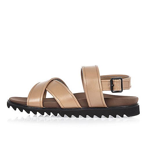 Brown strap sandals