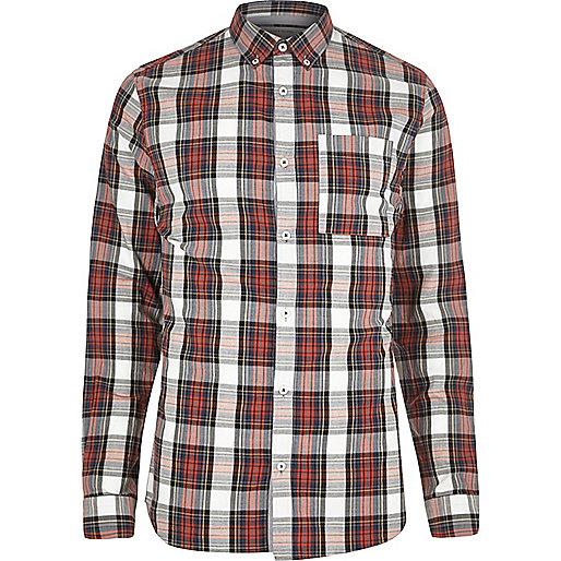 Red plaid check shirt