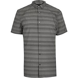 Grijs gestreept slim-fit overhemd
