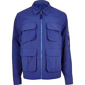 Blue four pocket jacket