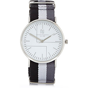 Grey stripe watch