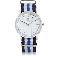 Blue stripe watch