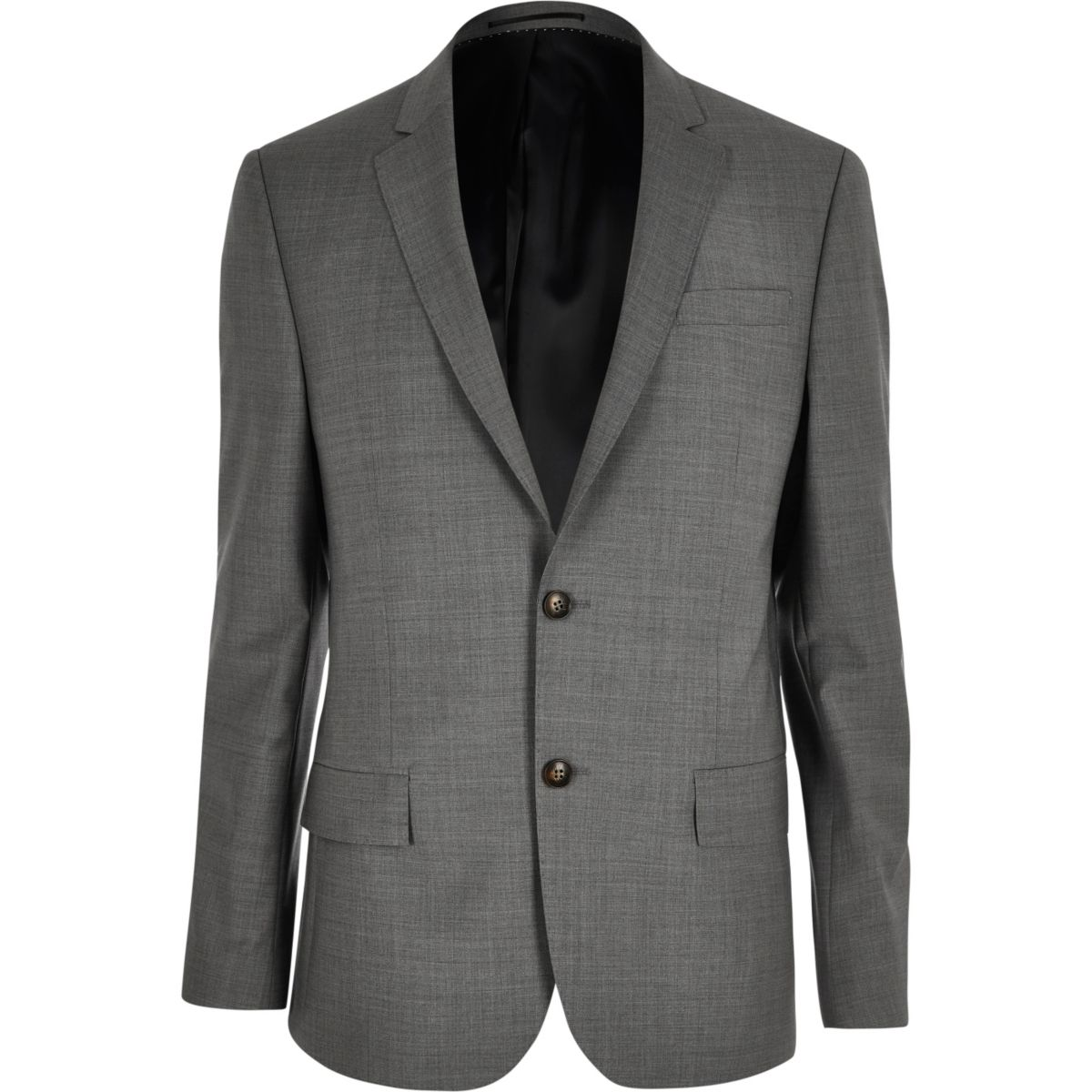 Grey slim Travel Suit jacket