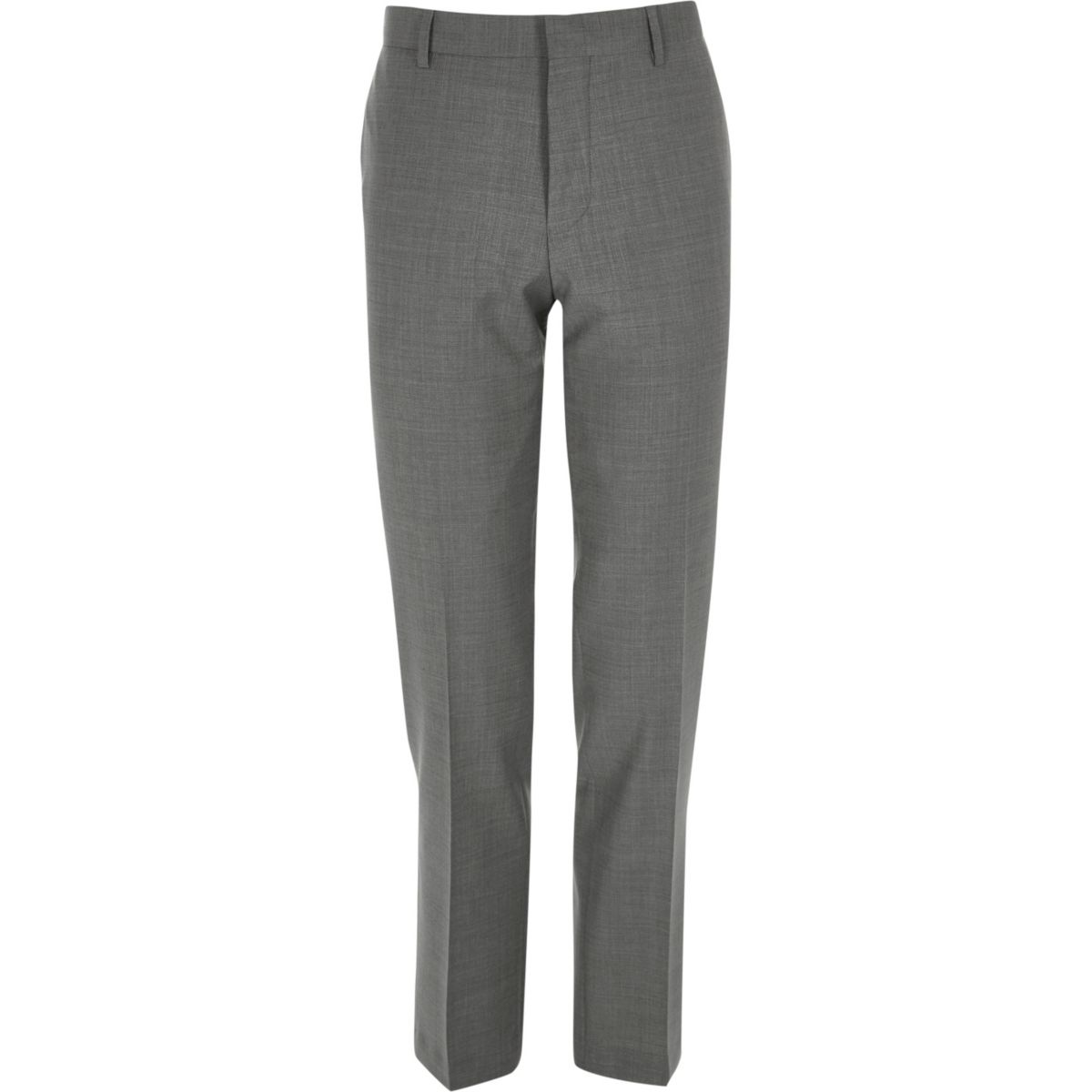 Grey slim Travel Suit trousers