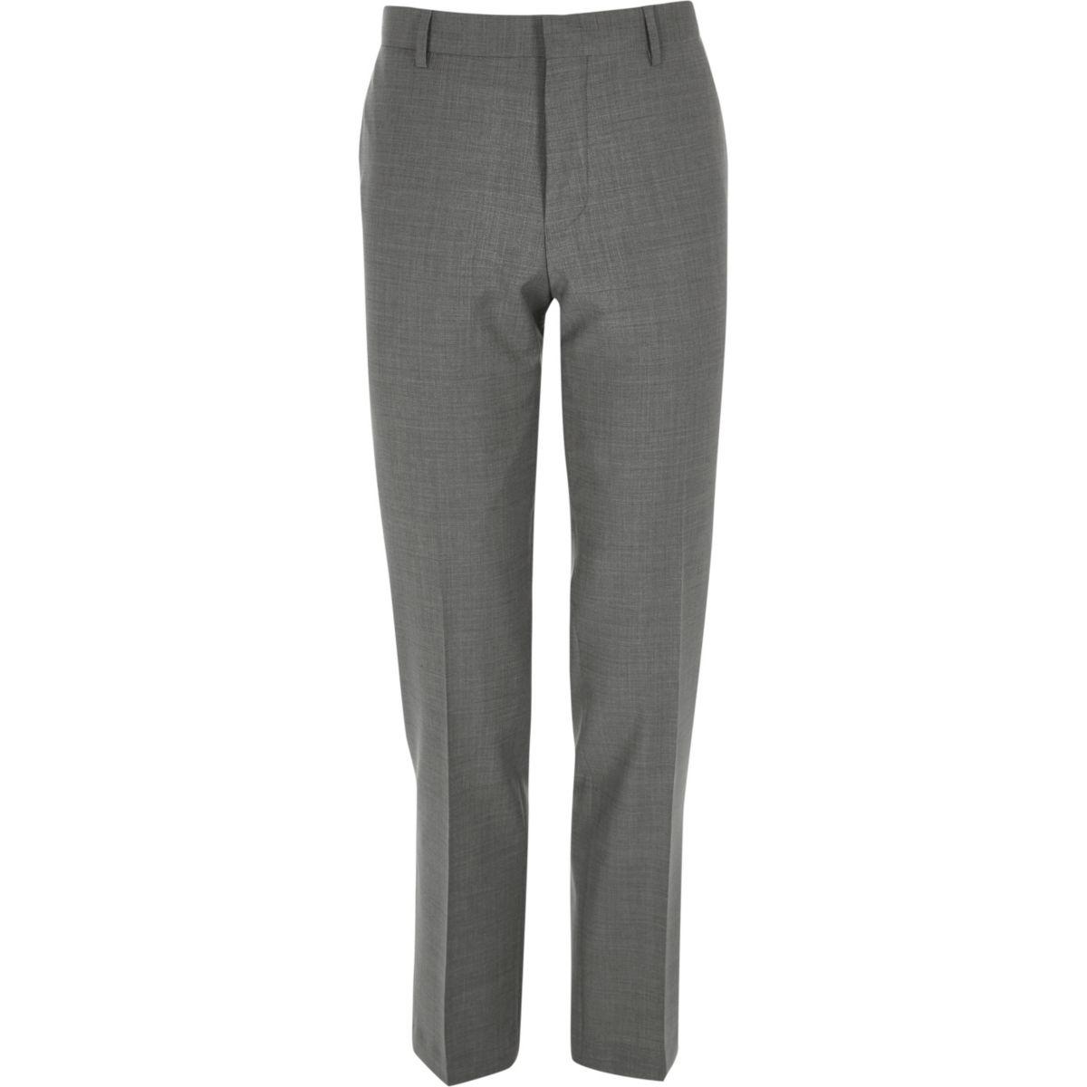 Grey slim Travel Suit pants