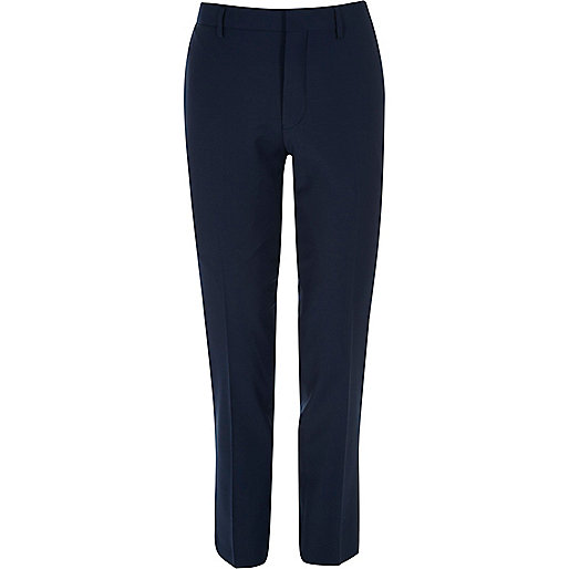 Navy skinny fit Travel Suit trousers