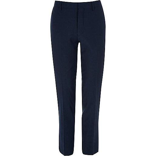 Navy skinny fit Travel Suit pants