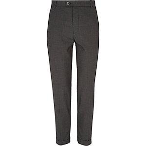 Pantalon de costume à carreaux Vichy noir coupe skinny