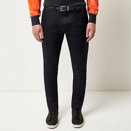 Navy Lou Dalton panel side pants