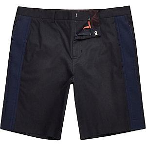 Navy Lou Dalton mesh panel shorts