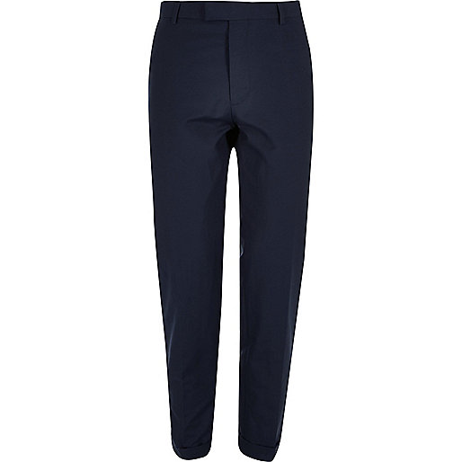 Blue skinny fit trousers