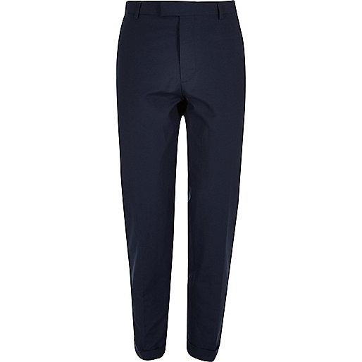 Blue skinny fit pants