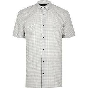 White print slim fit shirt