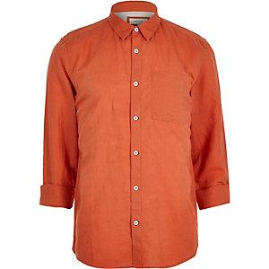 Rood overhemd met hoog linnenpercentage