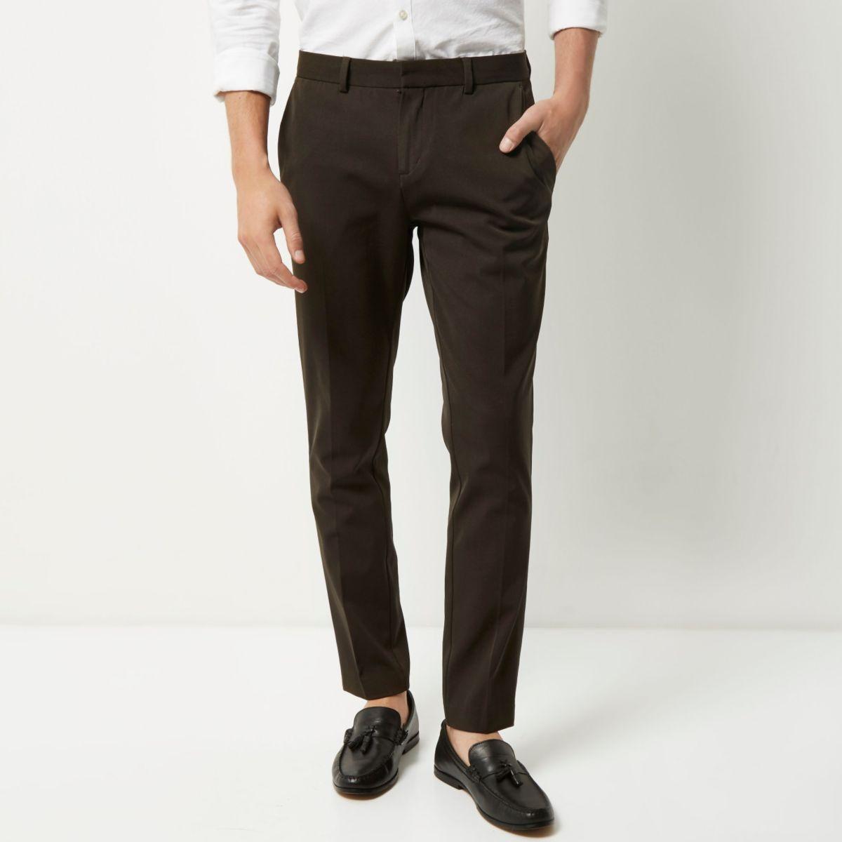 Khaki skinny fit pants