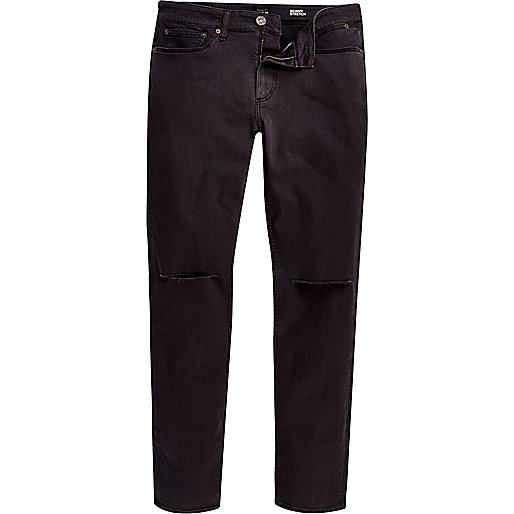 Sid – Graue Skinny Stretch Jeans im Used-Look