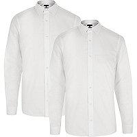 White formal slim fit shirt multipack