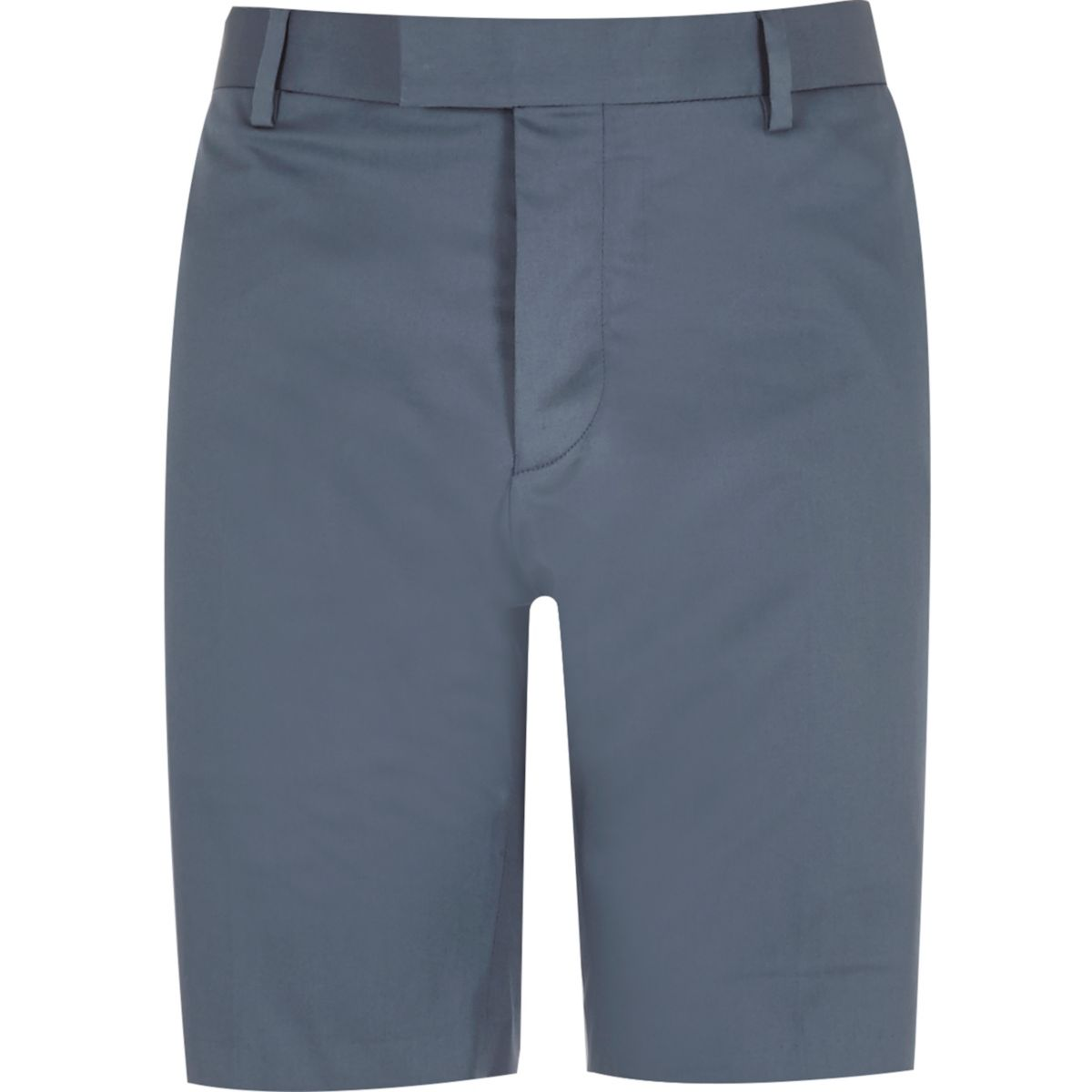Blue tailored fit bermuda shorts