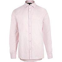 Light pink slim fit shirt