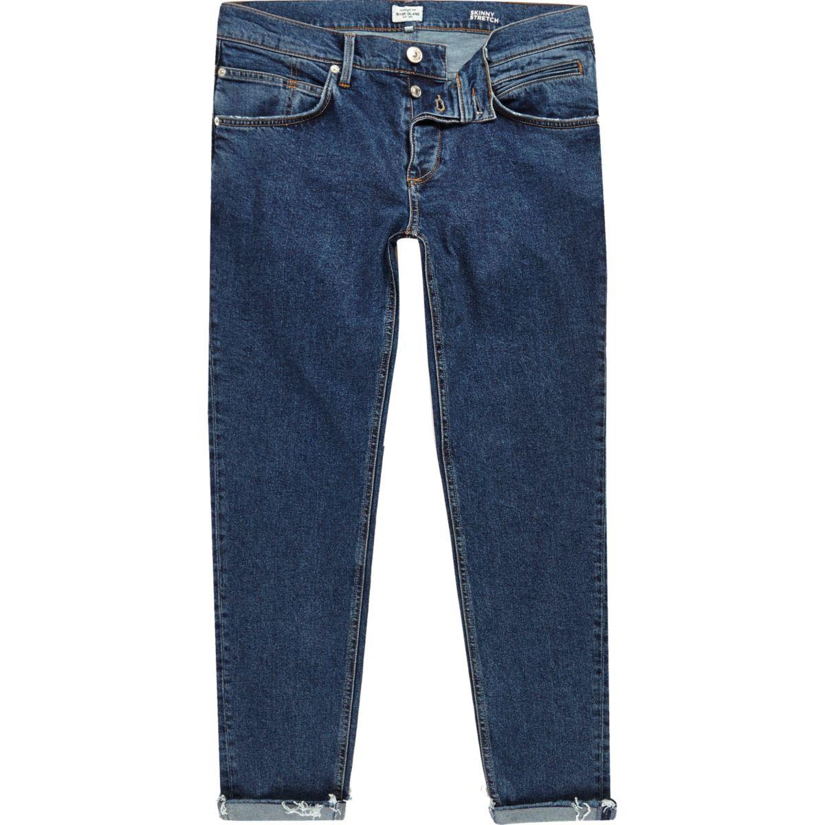 Sid blauwe halflange skinny jeans