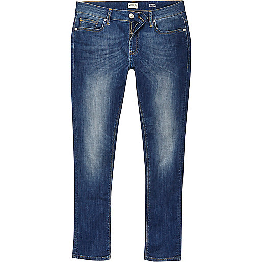 Danny – Super Skinny Jeans in mittelblauer Waschung