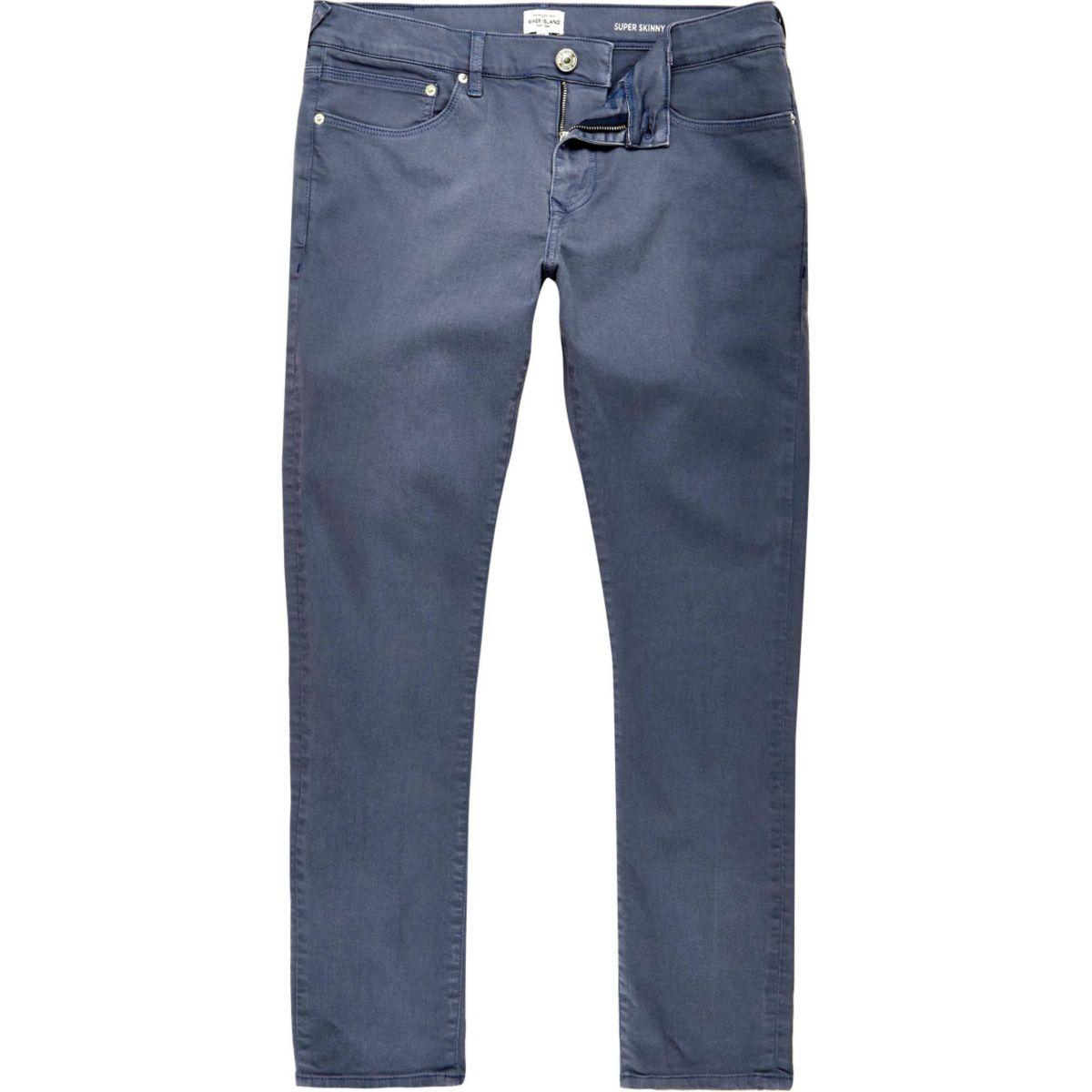 danny blaue superenge skinny jeans jeans sale herren. Black Bedroom Furniture Sets. Home Design Ideas