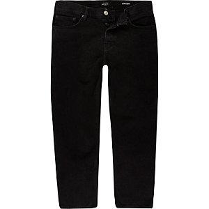 Dean – Schwarze, kürzere Straight Jeans