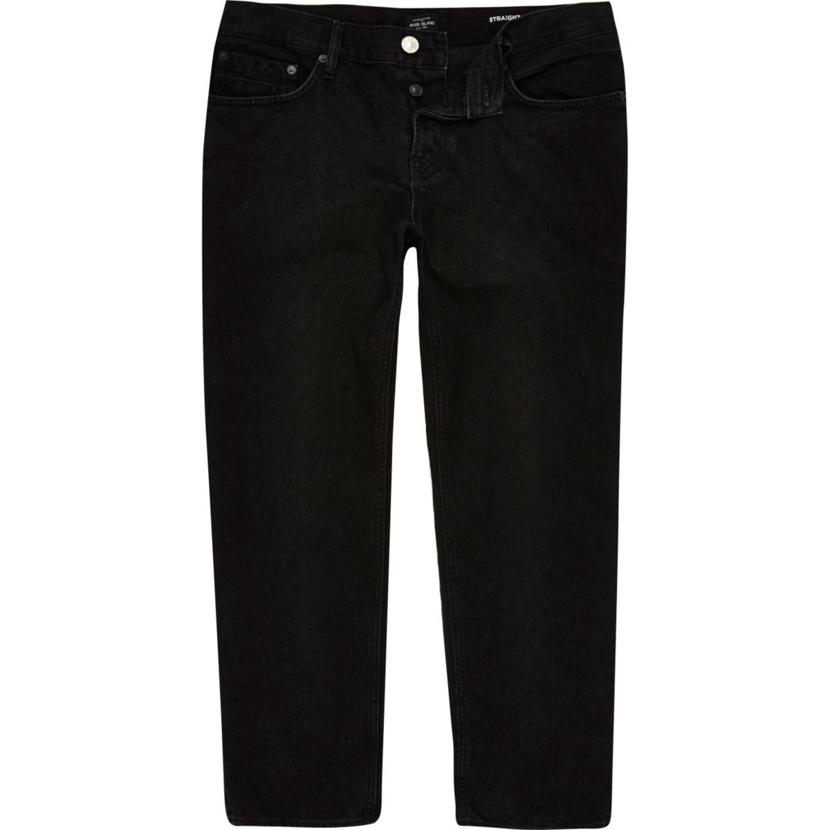 Dean – Schwarze, knöchellange Straight Jeans