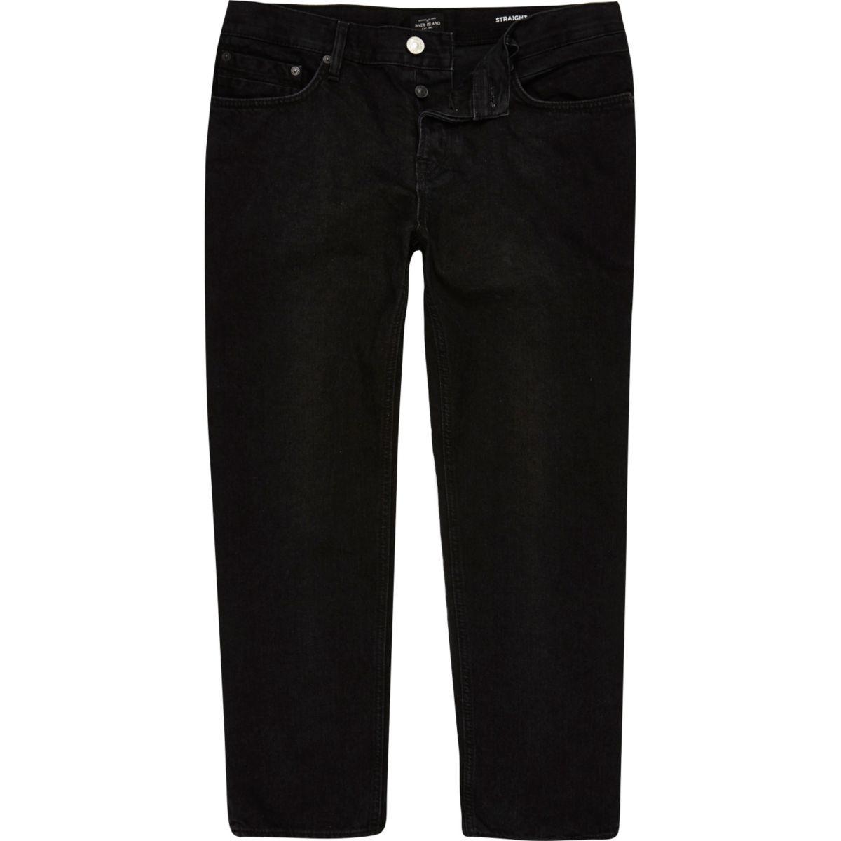 Zwarte Dean rechte halflange jeans