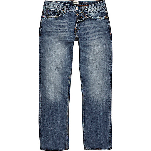 Dean – Straight Jeans in Mittelblau