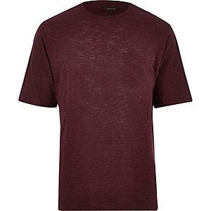 Dark red pocket t-shirt