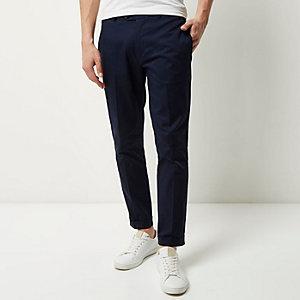 Marineblaue, kurze Skinny-Hose