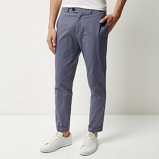 Grey cropped skinny pants