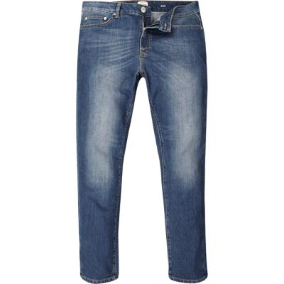 Dylan mid blue wash slim-fit jeans