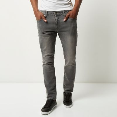 Dylan Grijze slim-fit jeans
