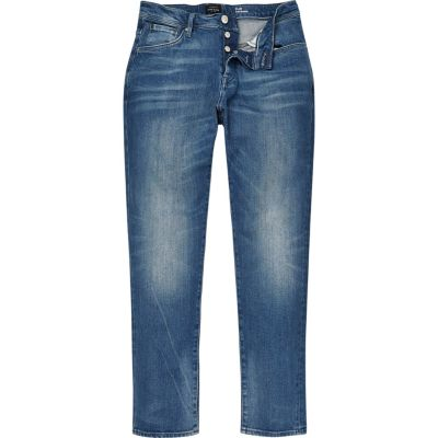 Lichtblauwe wash Jimmy slim taps toelopende jeans