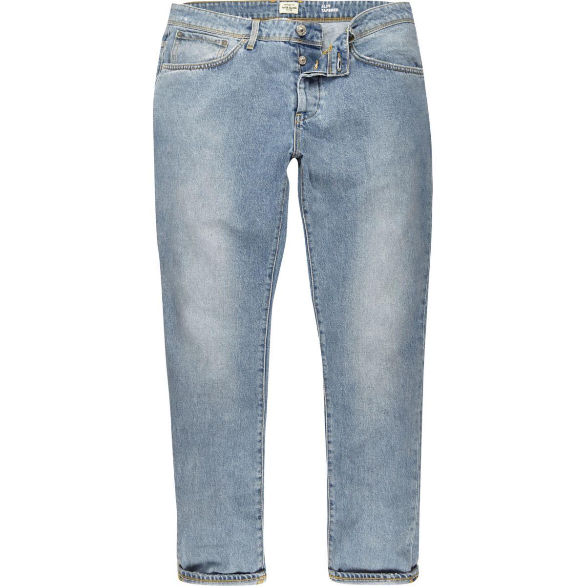 Jimmy – Hellblaue Jeans in Loose Fit im Used-Look