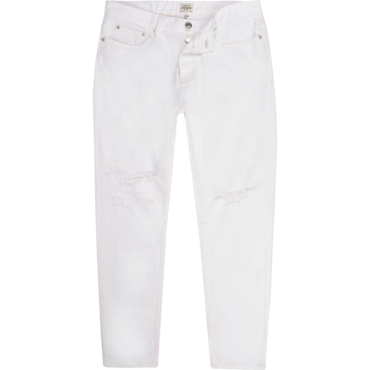 Jimmy – Schmale, weiße Jeans