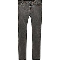 Black Jimmy slim tapered jeans