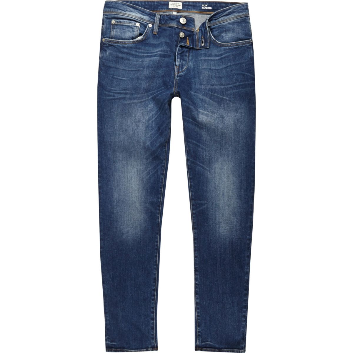 Jimmy blauwe slim-fit smaltoelopende jeans