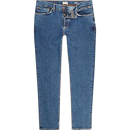 Mid blue wash Sid skinny jeans