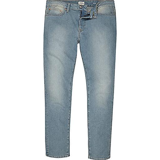 Dylan – Slim Jeans in hellblauer Waschung