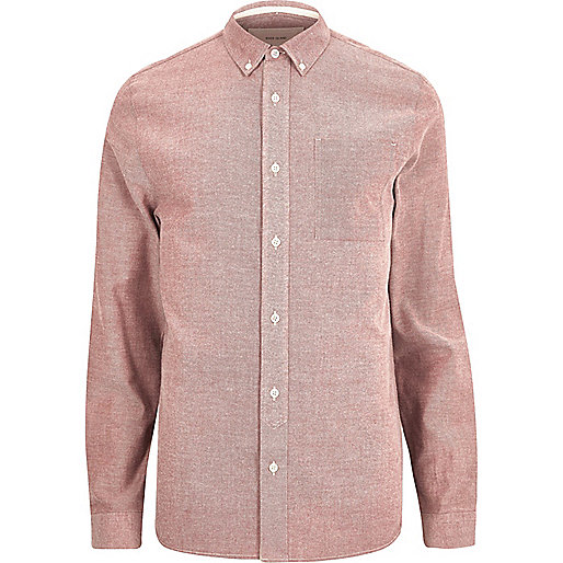 Red twill shirt