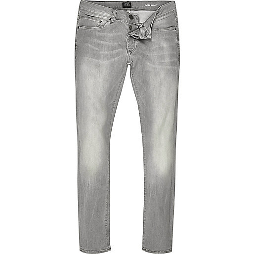 Grey wash Danny super skinny jeans