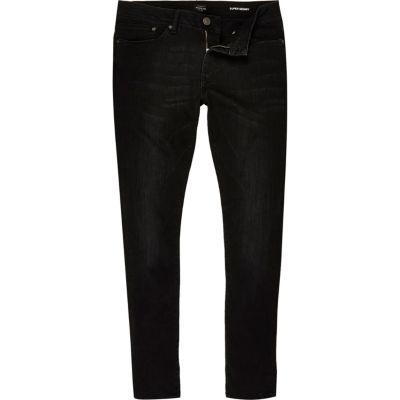 Danny Zwarte superskinny jeans