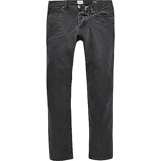 Dean - Graue Straight Jeans