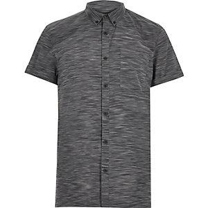 Navy space dye short sleeve t-shirt