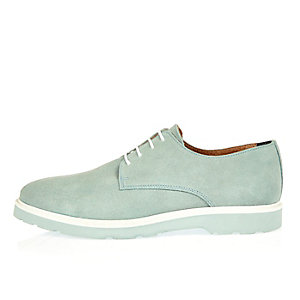 Light blue suede shoes