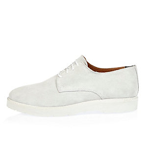 White suede shoes